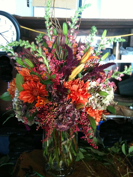 Autumn Flower Bouquet Jewel Tone Mums
