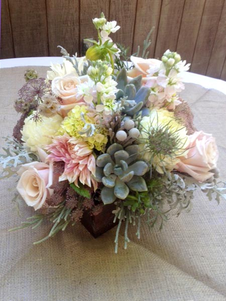 wedding bouquet succulent